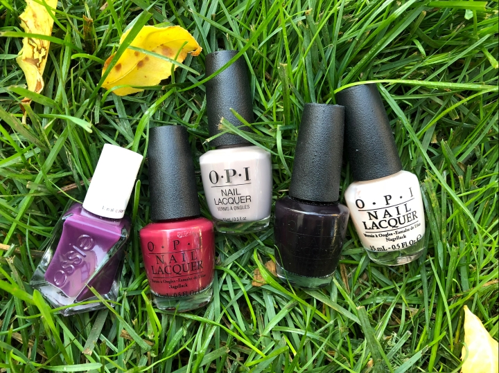 Five Nail Colors for Fall